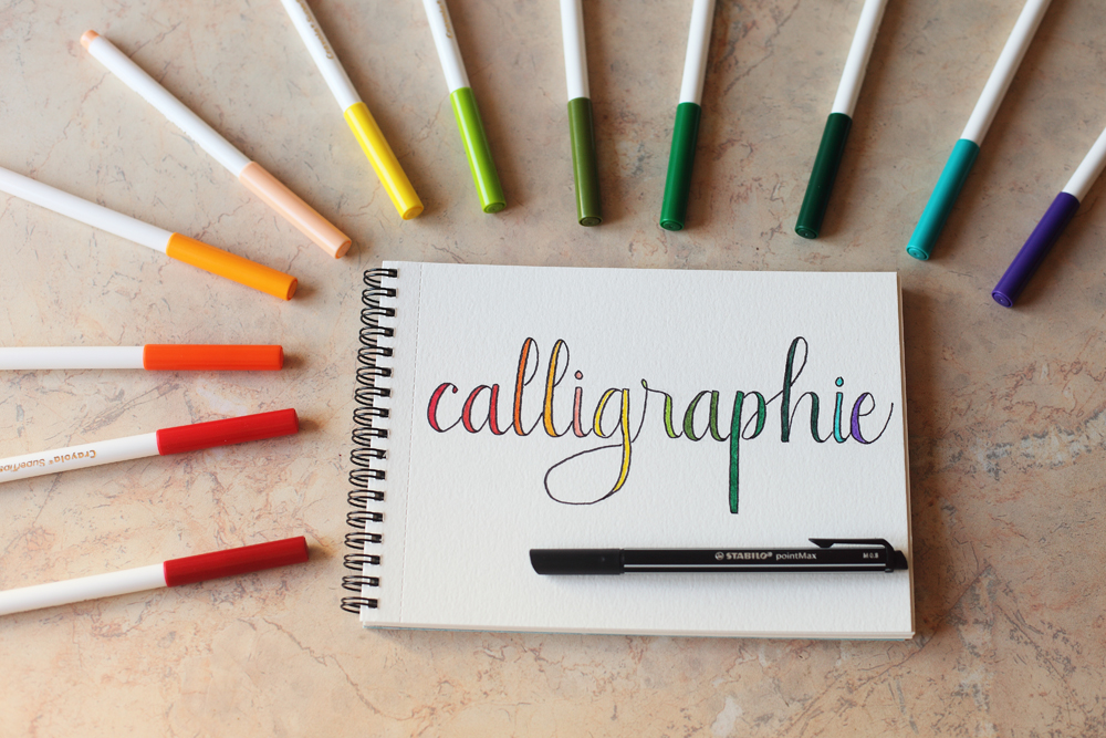 fausse calligraphie et mise en couleur