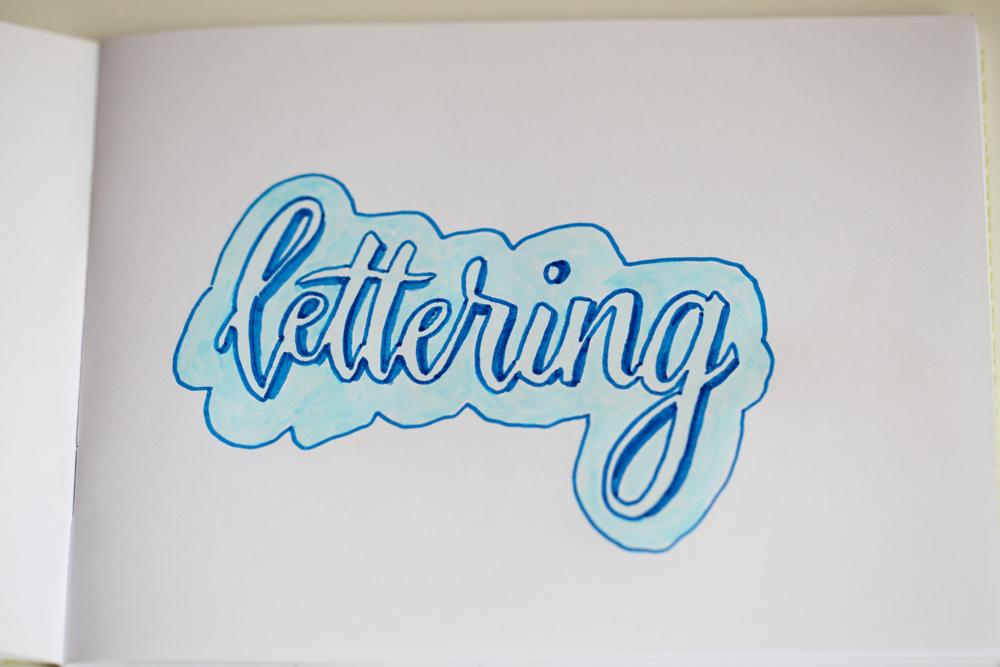 Test d'ombrage en lettering