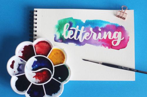 une façon d'écrire lettering
