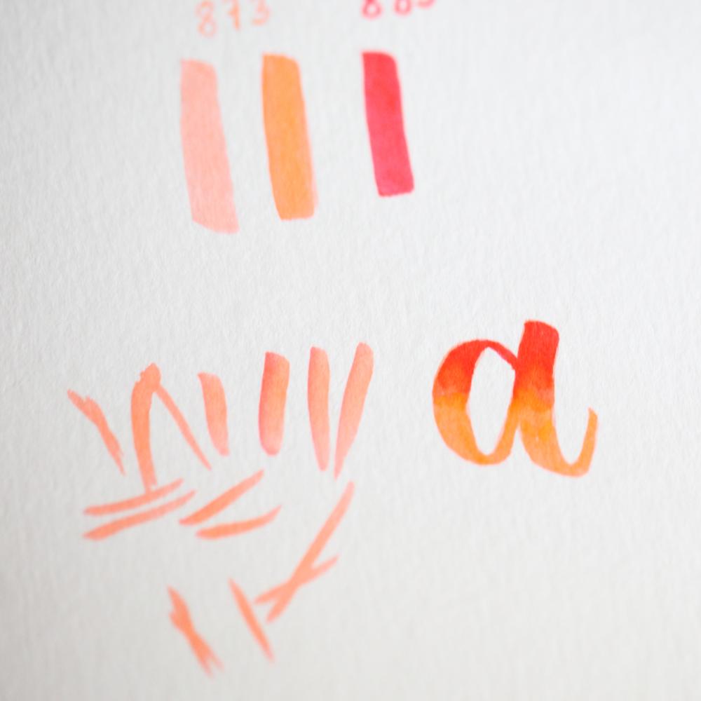 """pas à pas de blending sur la lettre """"a"""" (4/4)"""
