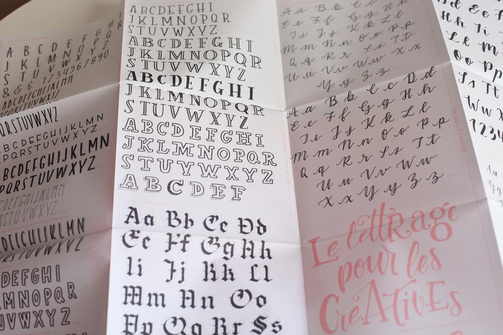 affiche alphabet lettering Tanja Cappell