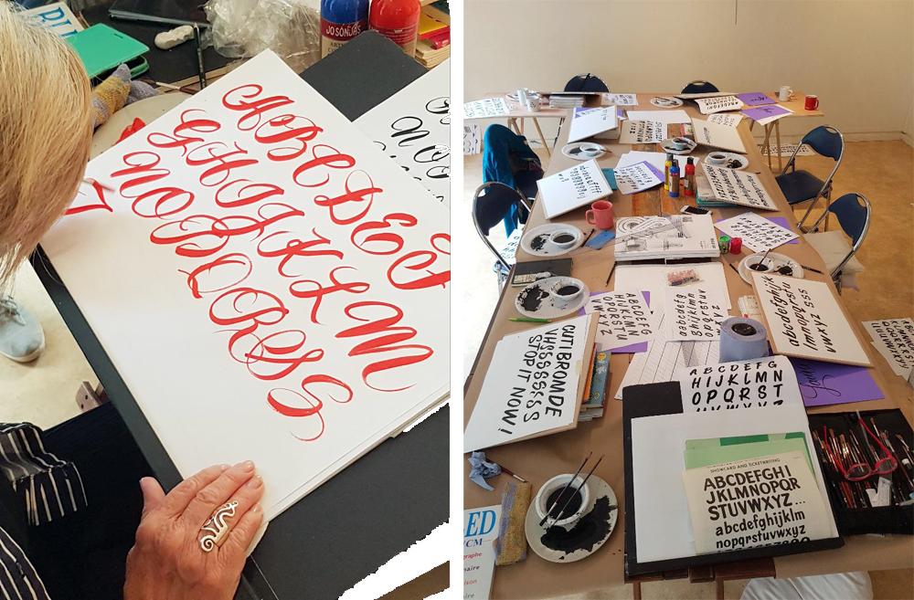 Stage de lettering avec Barbara Enright