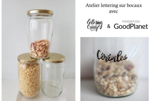 atelier lettering sur bocaux