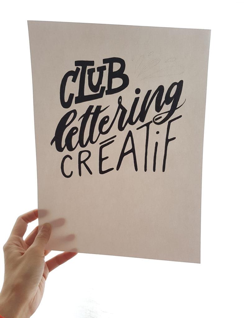composition en lettering