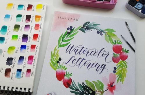 Couverture du livre Watercolor Lettering de Jess Park