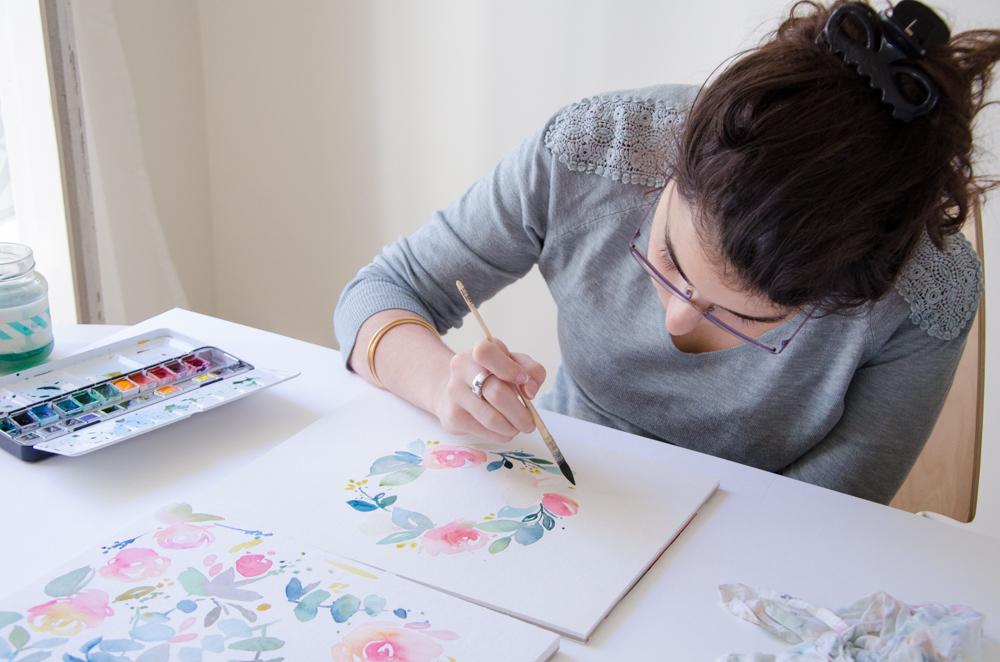 Marie, du site Les Tribulations de Marie, aquarelliste et auteur