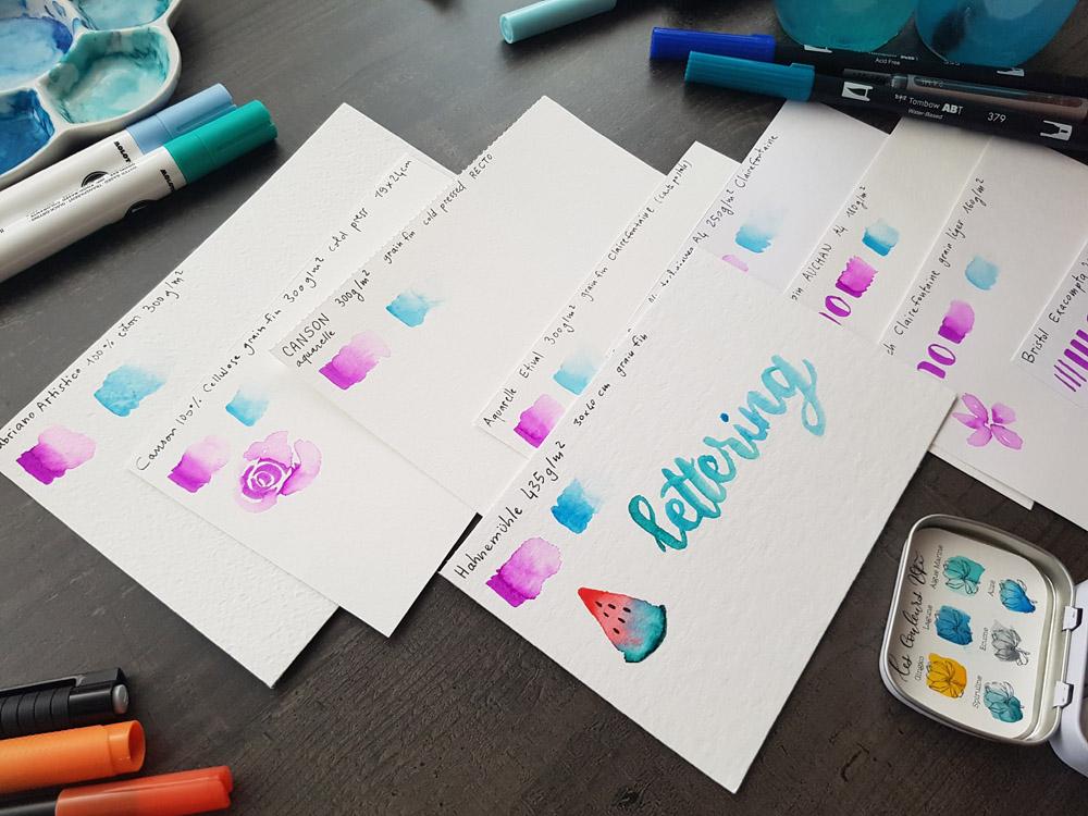 comment choisir son papier pour lettering aquarelle