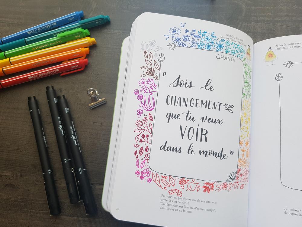 Lettering et doodling floral