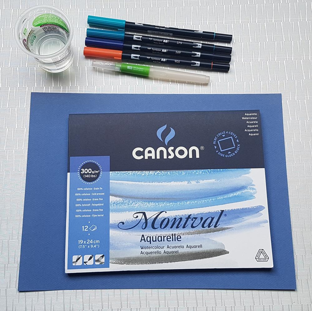 Papier Montval pour lettering aqaurelle